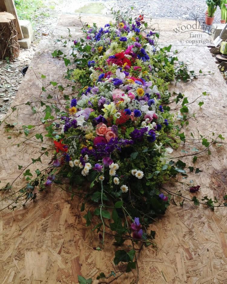 full casket funeral flowers, pembrokeshire