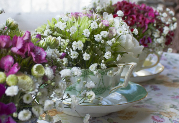 teacup flowers for weddings