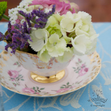 Teacup of flowers