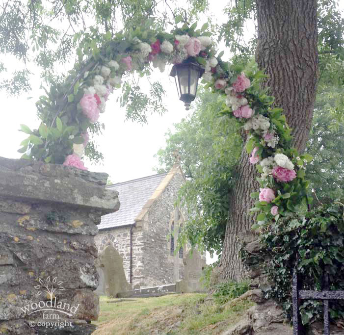 church arch flowers