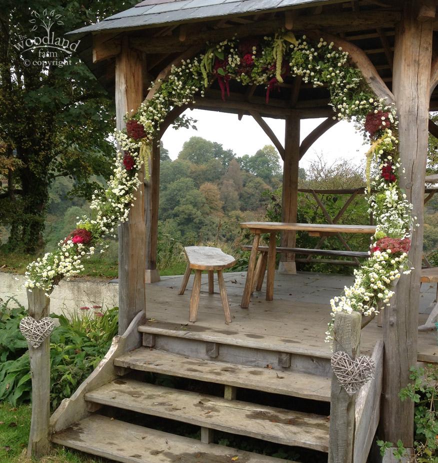 pagoda flower arch