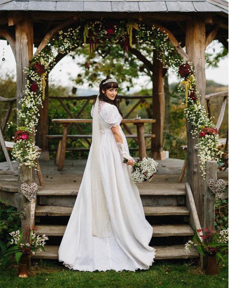 bride, wedding gown